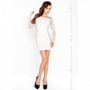 Соблазнительное белое платье с рукавами