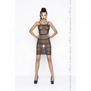 Прозрачное сексуальное платье черного цвета BS033