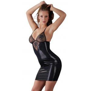 Черное платье с вышивкой XL