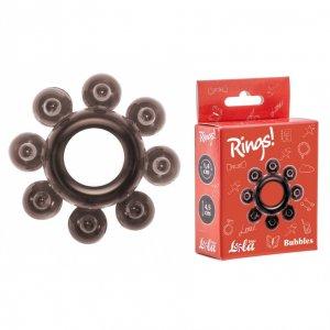 Тянущееся черное кольцо с массажными шариками