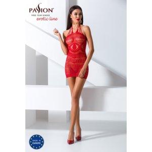Прозрачное платье красного цвета, BS063, размер S/L