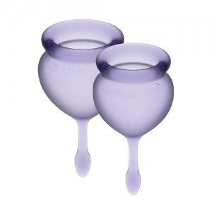 Менструальные чаши Satisfyer Feel Good 2 шт, лиловые