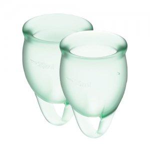 Менструальные чаши Satisfyer Feel Confident 2 шт, светло-зелёные