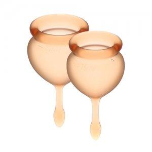 Менструальные чаши Satisfyer Feel Good 2 шт, оранжевые