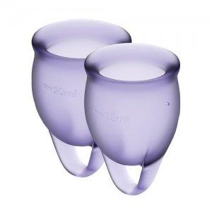 Набор менструальных чаш Satisfyer Feel Confident, лиловый