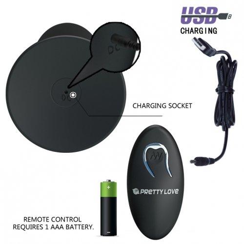 Анальная пробка Butt Plug Massager с вибрацией и дистанционным пультом