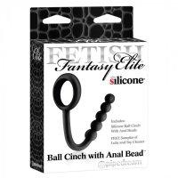 Анальная цепочка Ball Cinch With Anal Bead Black