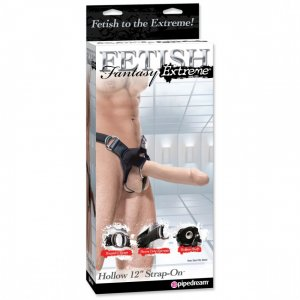 Фаллопротез FF Extreme 12in Hollow Strap Flesh