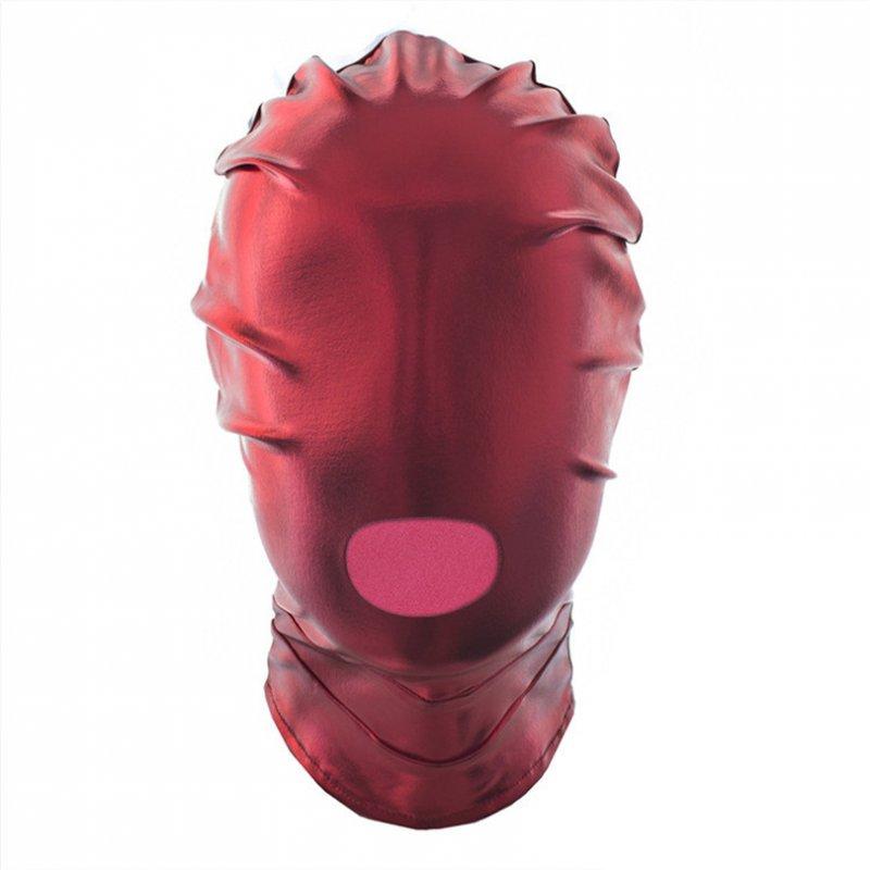 БДСМ маска красная с отверстием для рта
