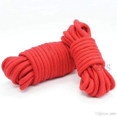 Хлопковая верёвка для бондажа красная 5 метров