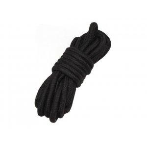 Хлопковая верёвка для бондажа черная 5 метров
