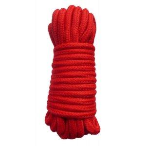 Хлопковая верёвка для бондажа красная 10 метров