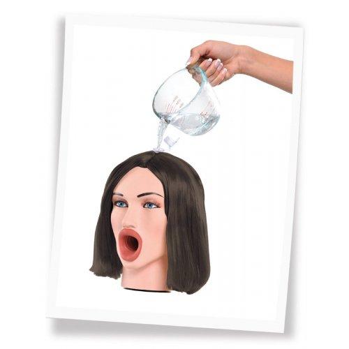 Мастурбатор-голова Брюнетка Hot Water Face Fucker Brunette
