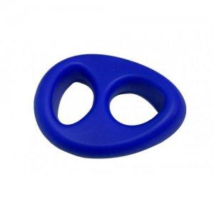 Двойное эрекционное кольцо x-men голубое