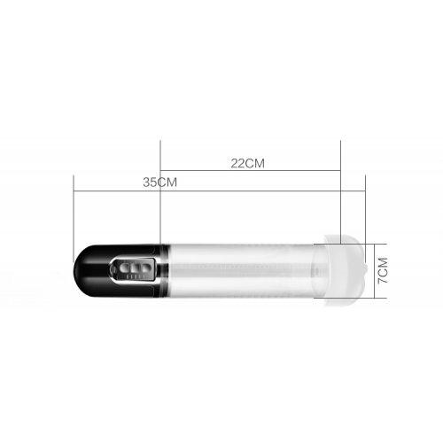 Вакуумная помпа автоматическая Maximizer Worx VX5 с насадкой в форме ротика белая