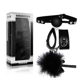 Набор Deluxe Bondage Kit (кляп,наручники, тиклер)