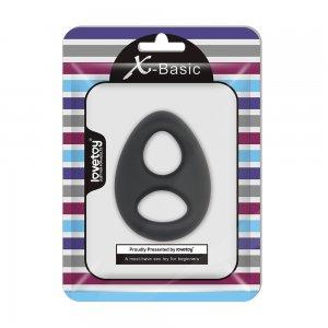 Двойное эрекционное кольцо Ultra Soft Platinum-Cure Silicone Cockring черное
