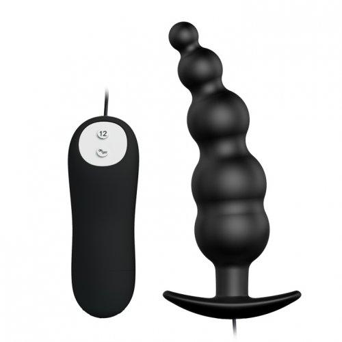 Анальная втулка с вибрацией черная Special Anal Stimulation