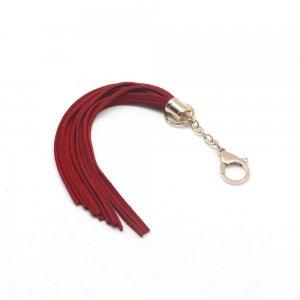 Мягкая замшевая красная плеть
