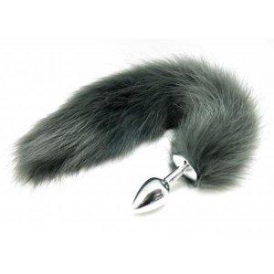 Анальная пробка Лисий хвост Grey Fox