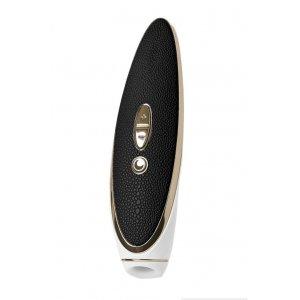 Вибратор Satisfyer Luxury Haute couture, с вакуум-волновым бесконтактным стимулятором, силикон, черный, 22см