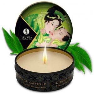 Массажная аромасвеча Shunga Зеленый чай, 30 мл