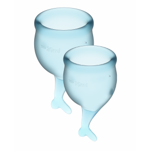 Менструальные чаши Satisfyer Feel Secure, голубой