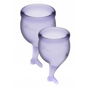 Менструальные чаши Satisfyer Feel Secure, лиловый